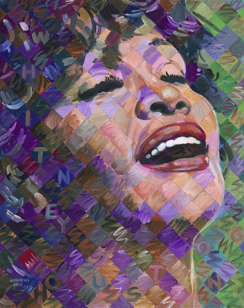 """""""Whitney Houston"""" original fine art by Randal Huiskens"""