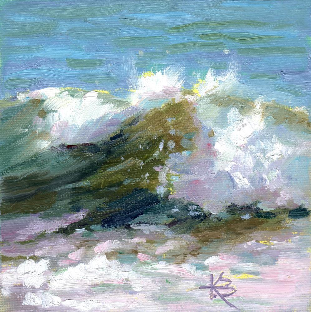 """Curl"" original fine art by Kathy Bodamer"