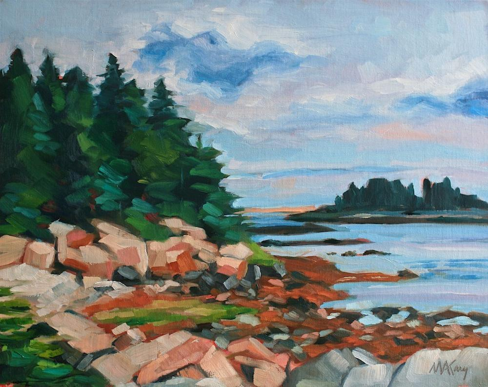 """Schoodic View"" original fine art by Mary Anne Cary"