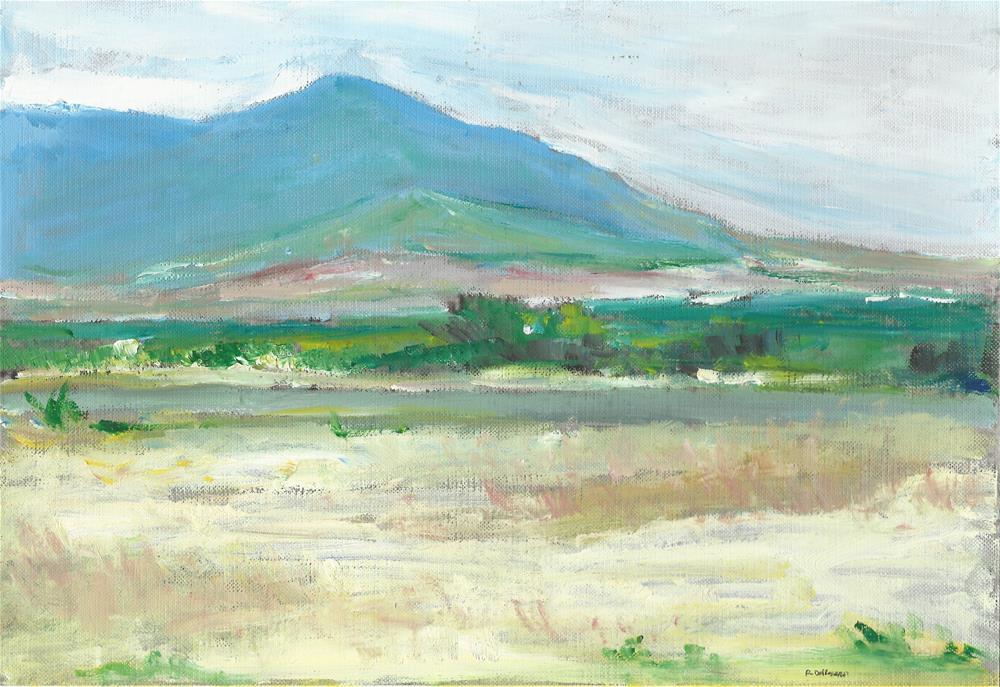 """The Landscape (9 x 12 oil on canvas sheet - no frame)"" original fine art by Ramon DelRosario"
