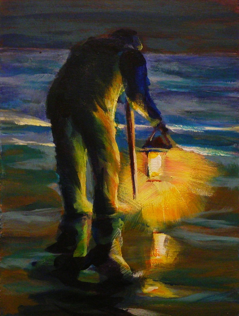 """WINTER PASTIME"" original fine art by Brian Cameron"