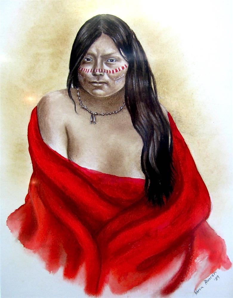 """""""Red Blanket"""" original fine art by Karen Roncari"""
