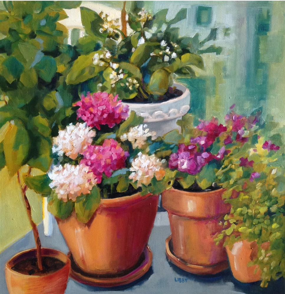 """""""Grandmother's Porch"""" original fine art by Libby Anderson"""