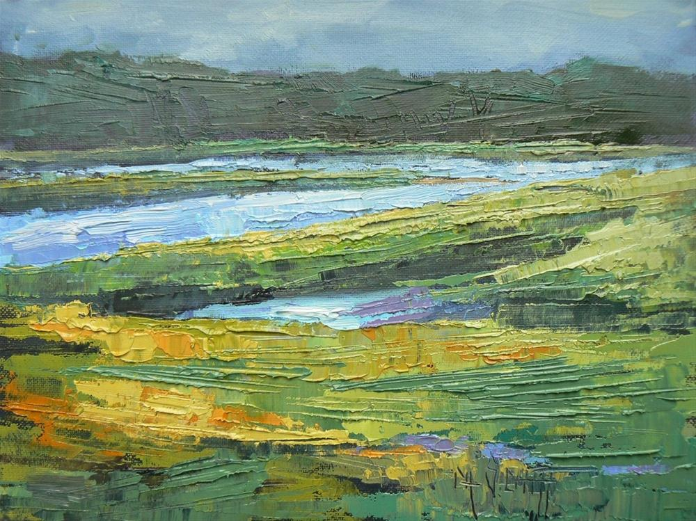 """Daily Landscape Painting, Southern Marsh"" original fine art by Carol Schiff"