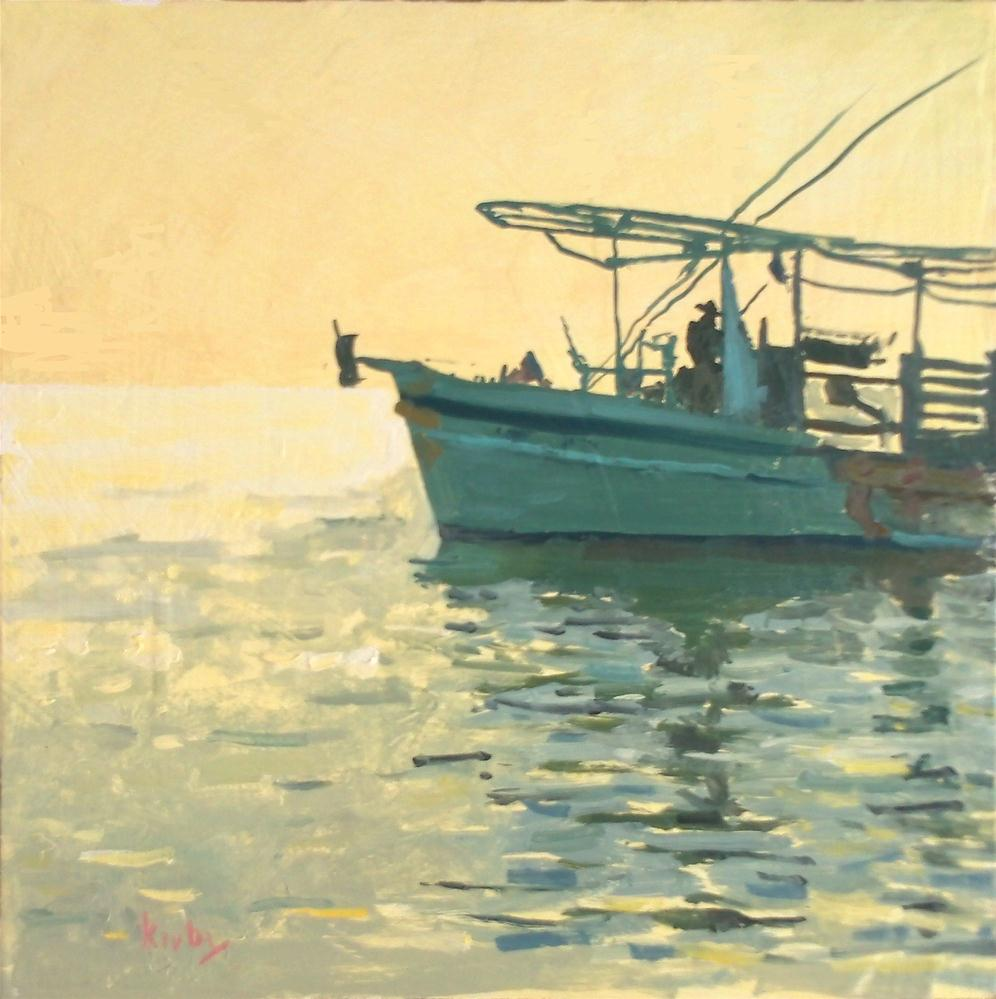 """Oyster Boat"" original fine art by Randall Cogburn"