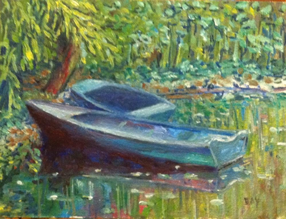 """Monet's Garden"" original fine art by barbara yongue"