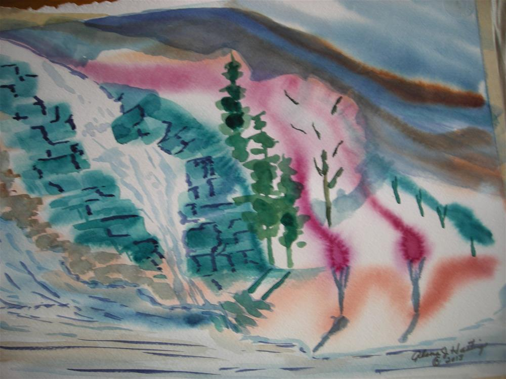 """The Boulder Falls"" original fine art by Alana Hastings"