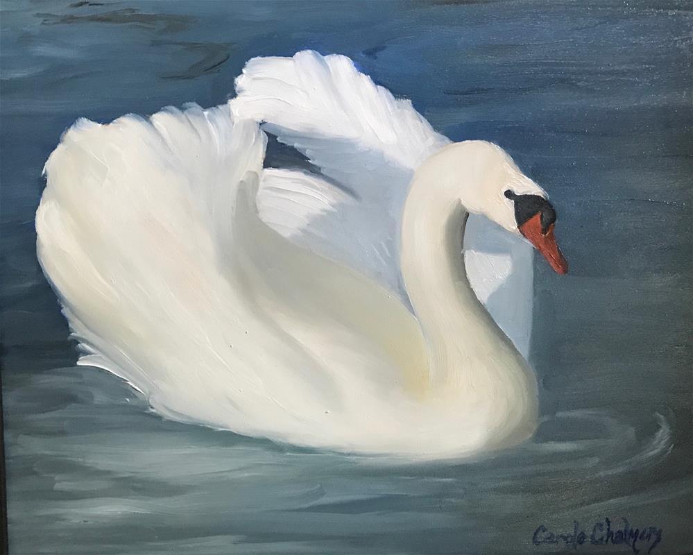 """Glorious Swan"" original fine art by Carole Chalmers"