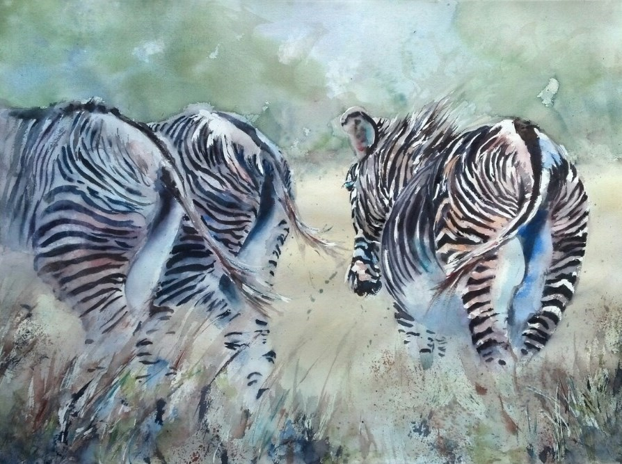 """Let's Go"" original fine art by Julie Hill"