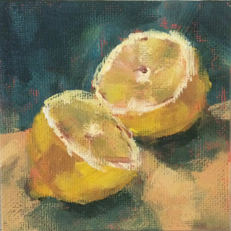 """Lemon Halves"" original fine art by Shannon Bauer"