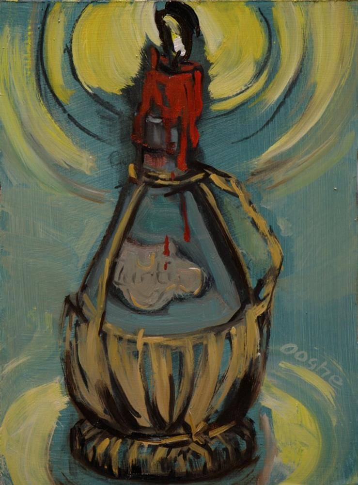 """Chianti Bottle"" original fine art by Angela Ooghe"