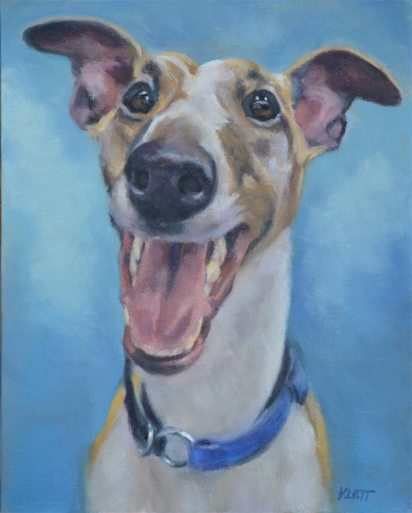 """Funny face"" original fine art by Tracy Klett"