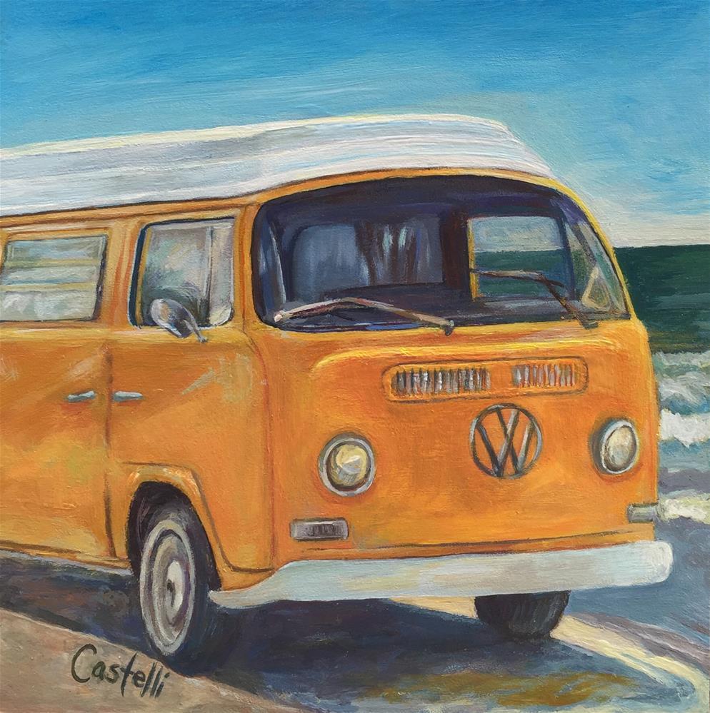 """""""Summer of '72"""" original fine art by Anna  Castelli"""