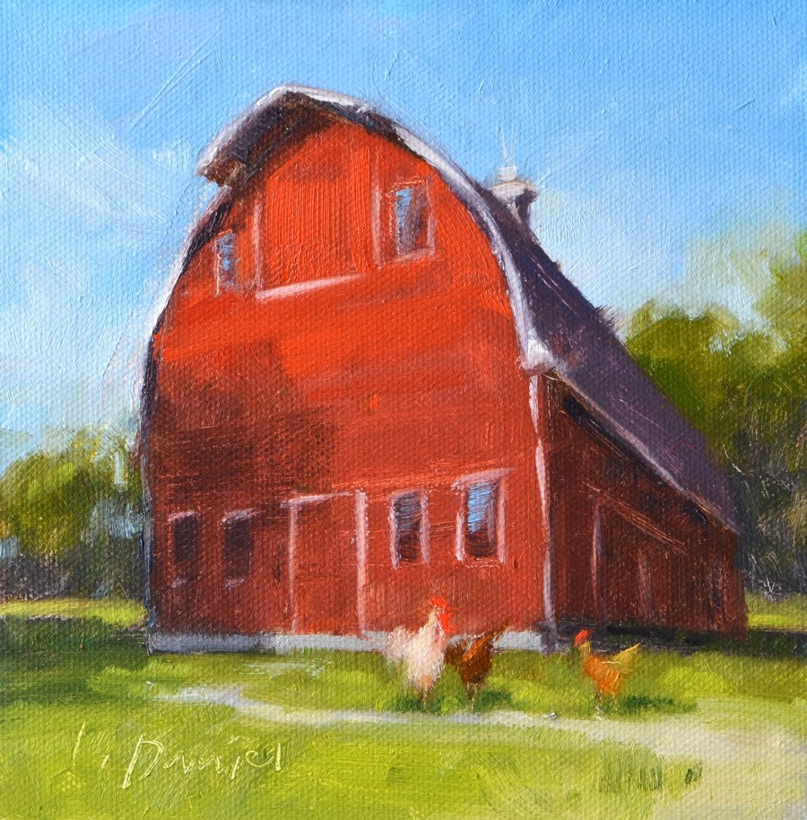 """Family Farm Study"" original fine art by Laurel Daniel"