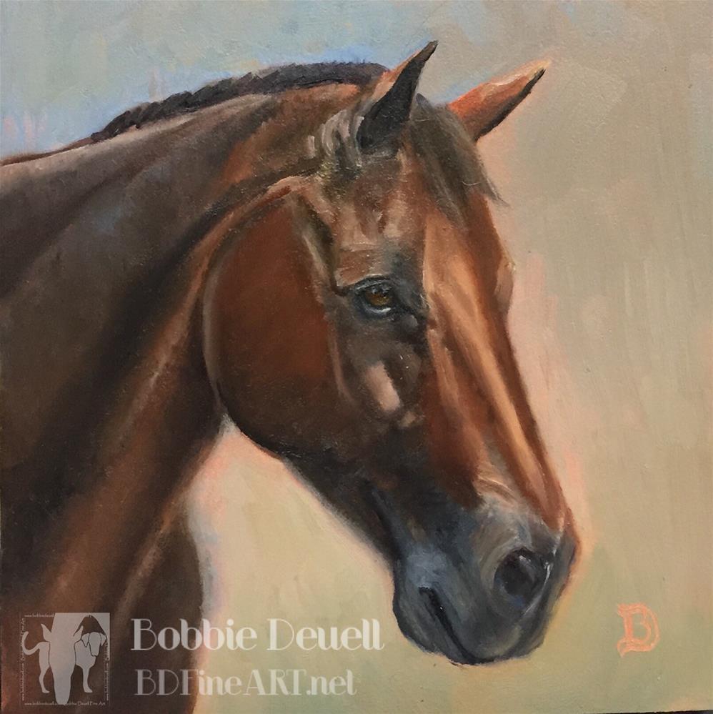 """""""#34 Bay Horse"""" original fine art by Bobbie Deuell"""
