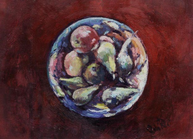 """Fruit Bowl"" original fine art by Andre Pallat"