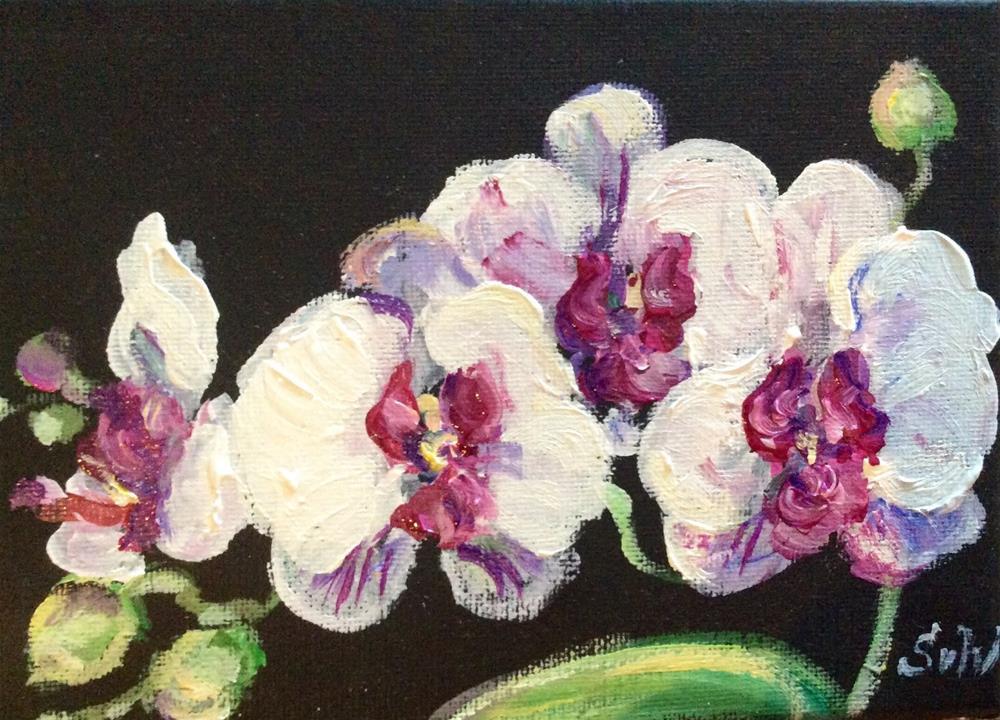 """""""Orchids Scent"""" original fine art by Sonia von Walter"""