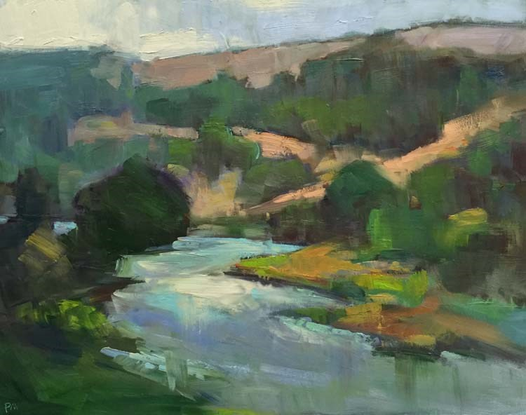 """Between the Raindrops, North Umpqua River"" original fine art by Patti McNutt"