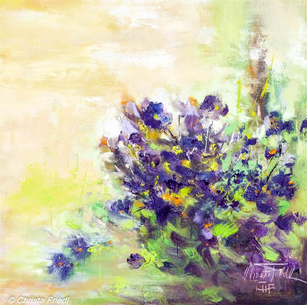 """Violets"" original fine art by Christa Friedl"