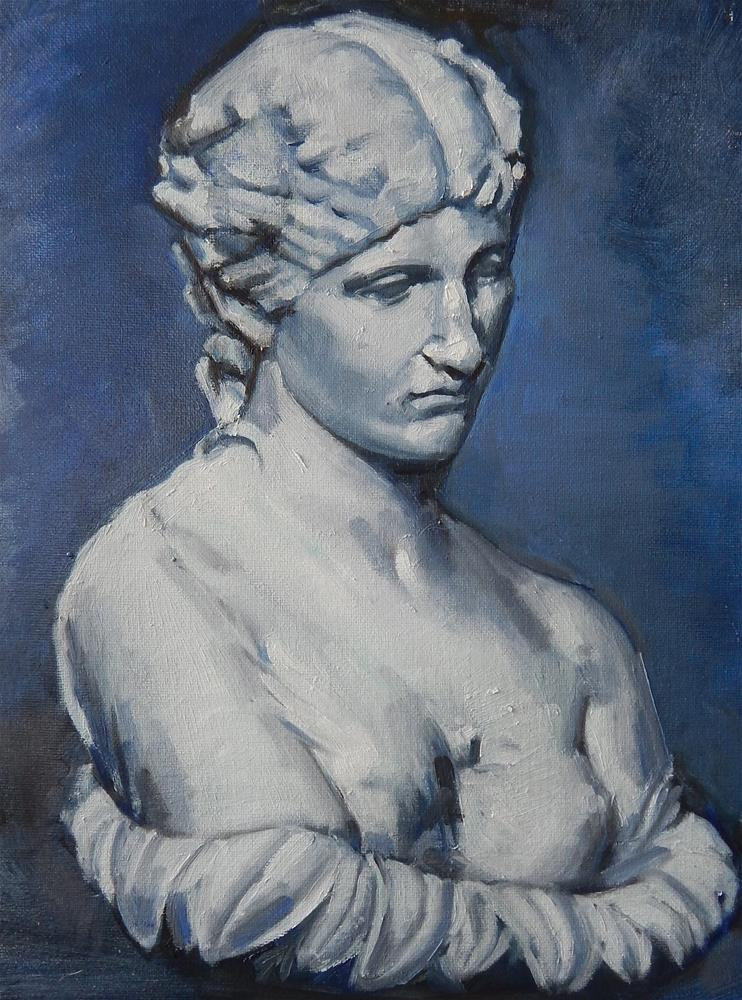 """Study of a Marble Bust"" original fine art by Megan Schembre"