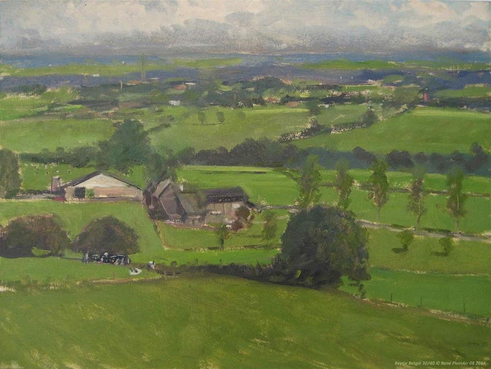"""Back from Limburg, The Netherlands"" original fine art by René PleinAir"