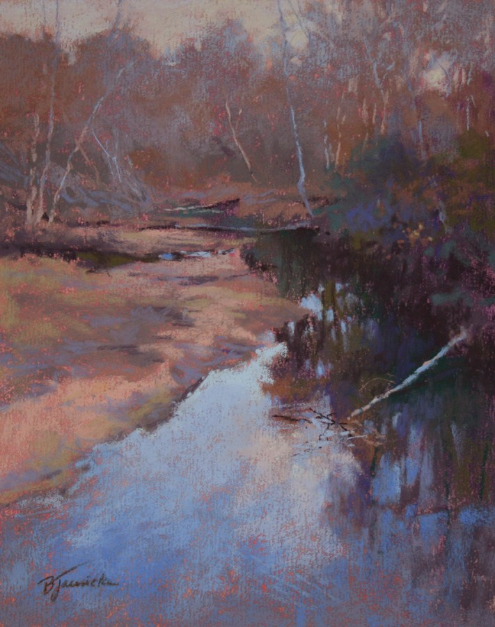 """Reflections on Big Creek"" original fine art by Barbara Jaenicke"