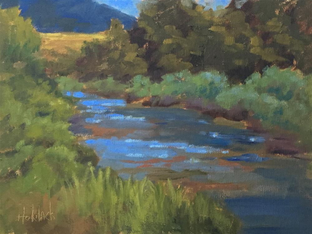 """River's Everlasting Flow"" original fine art by Pam Holnback"