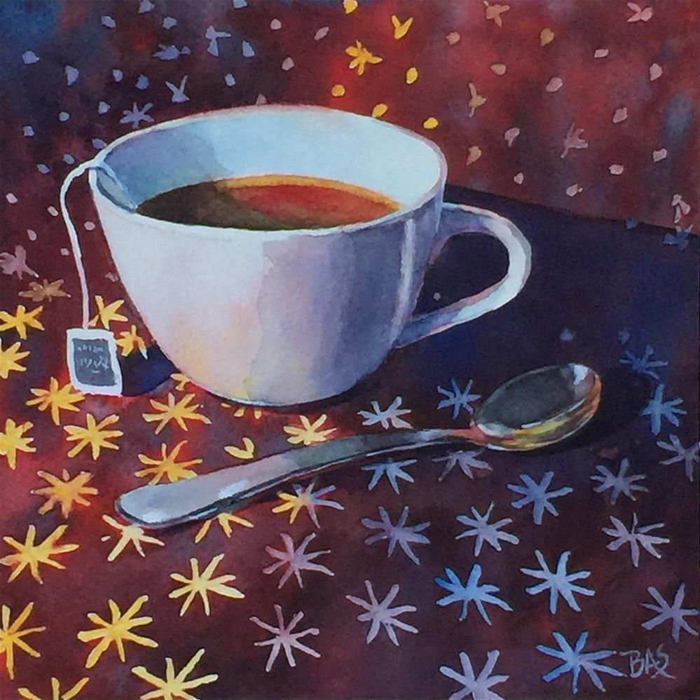 """TeaLight"" original fine art by Barbara Scheihing"