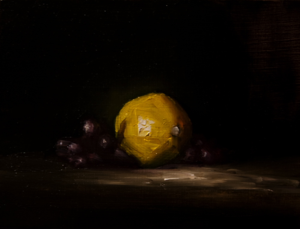 """Lemon and Grapes"" original fine art by Neil Carroll"