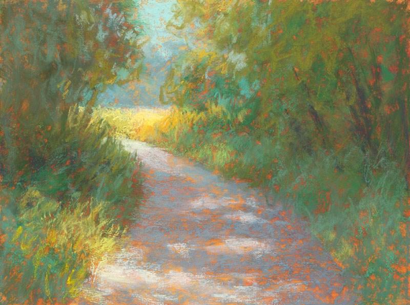 """Park Trail #36 - day 20"" original fine art by Rita Kirkman"
