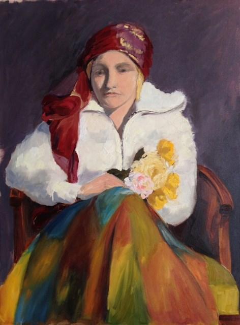 """""""Gypsie Girl"""" original fine art by Karen D'angeac Mihm"""