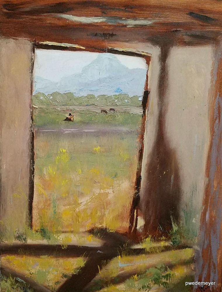 """No Matter, It's still a great View!"" original fine art by Pamela Wedemeyer"