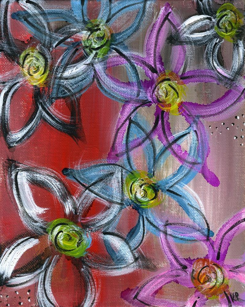 """""""Floral Lines"""" original fine art by Kali Parsons"""