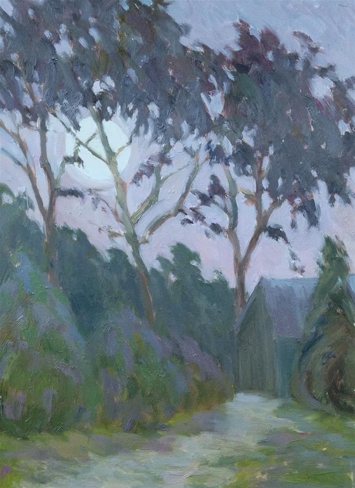 """Saratoga Moonrise"" original fine art by Eden Compton"