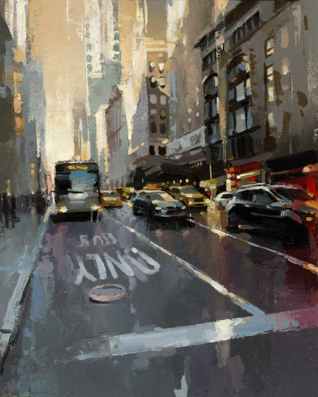 """BUS ONLY"" original fine art by Victor Bauer"