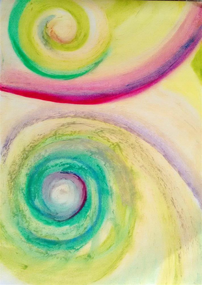 """""""Galaxies Apart"""" original fine art by Adéla Svobodová"""