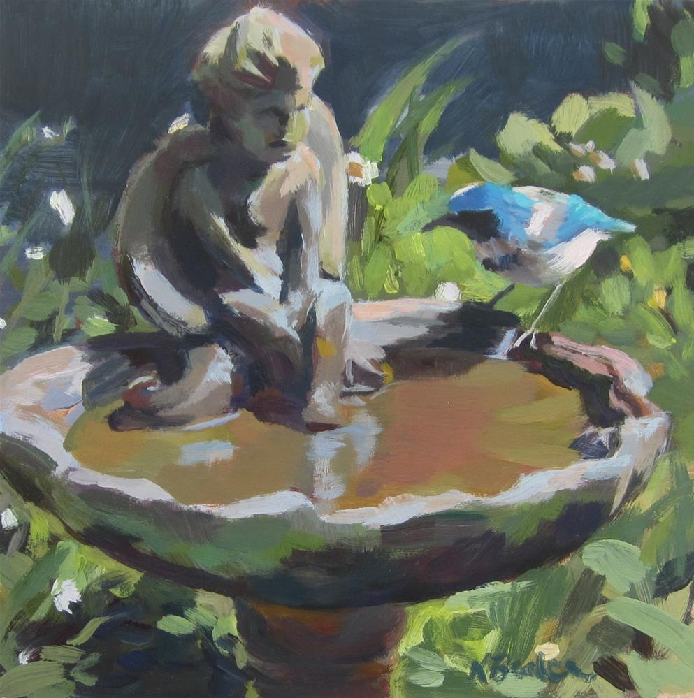 """The Angel and the Bird"" original fine art by Kaethe Bealer"