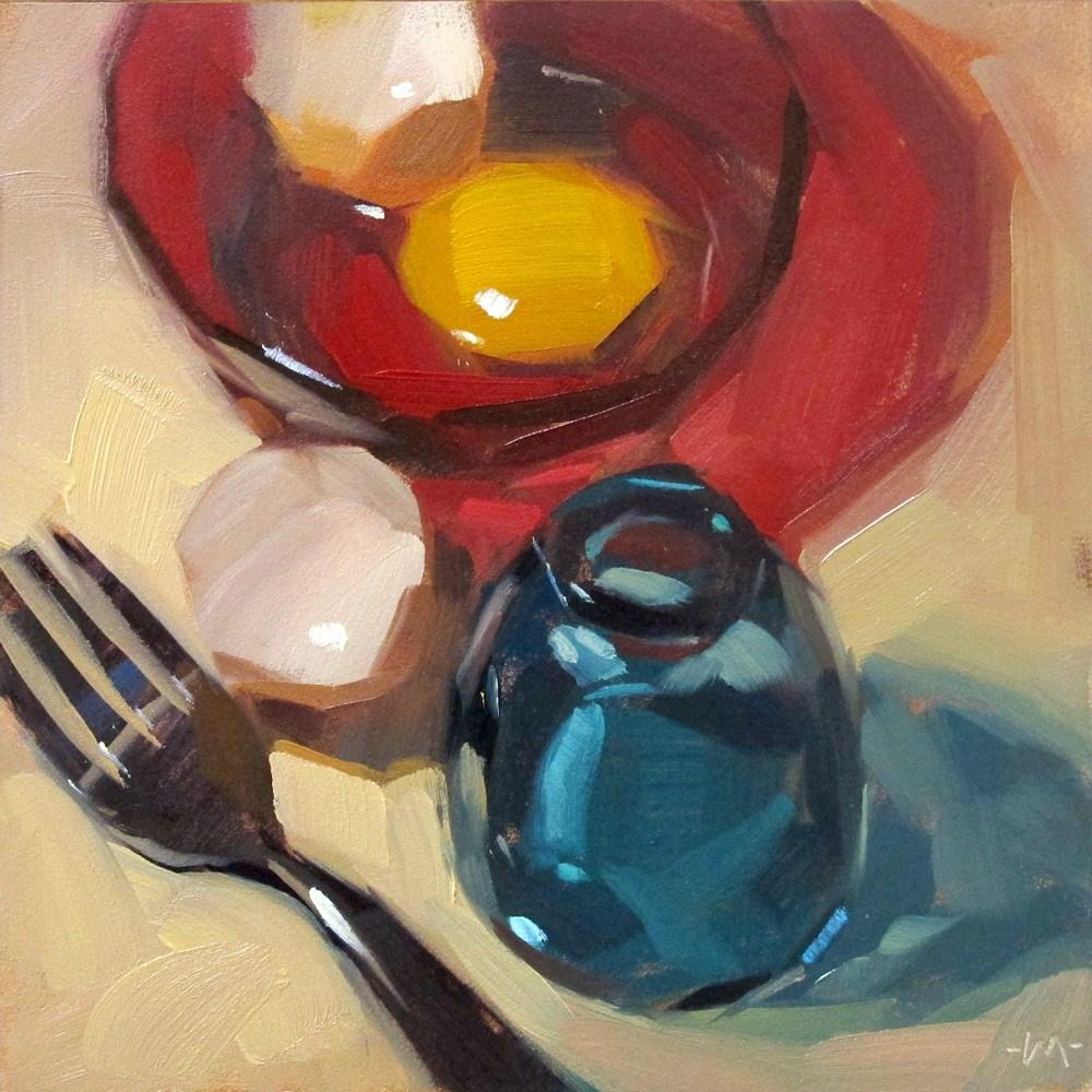 """Primary Egg"" original fine art by Carol Marine"