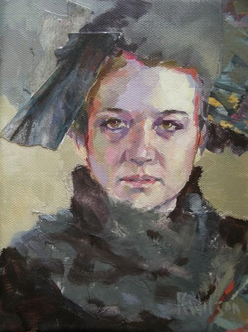 """""""Black Feather"""" original fine art by Katie Wilson"""