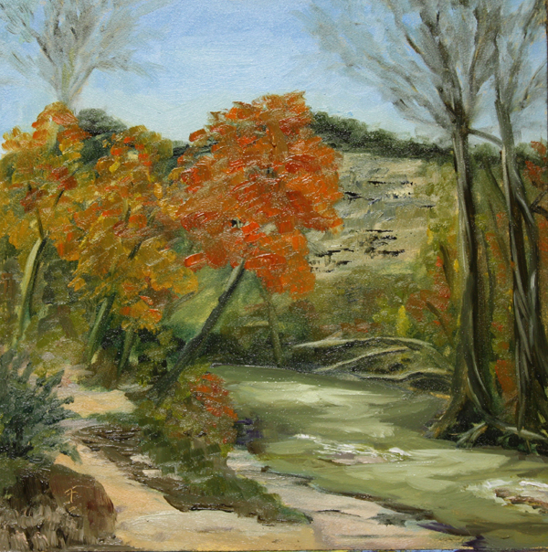 """Walnut Creek"" original fine art by Jane Frederick"