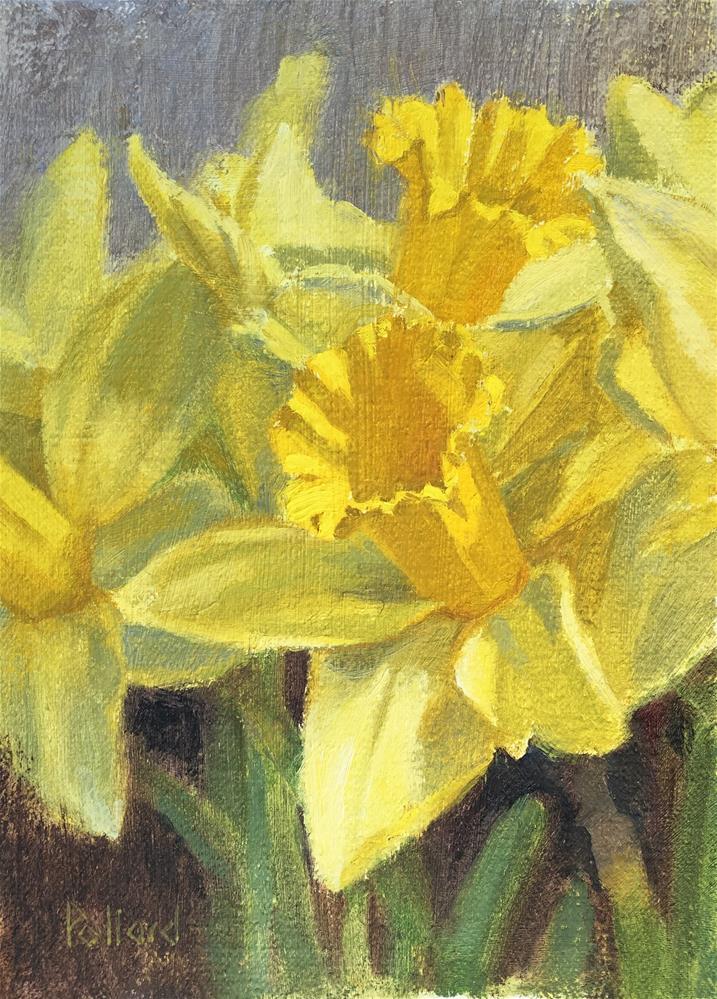 """Daffodils"" original fine art by Susan Pollard Gillespie"