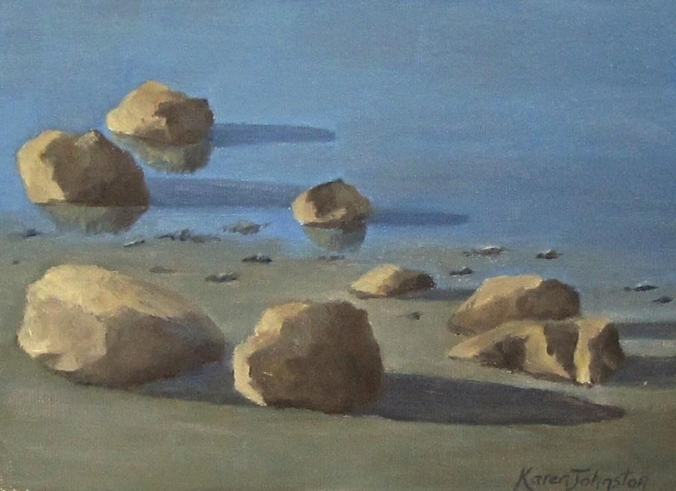 """Low Tide"" original fine art by Karen Johnston"