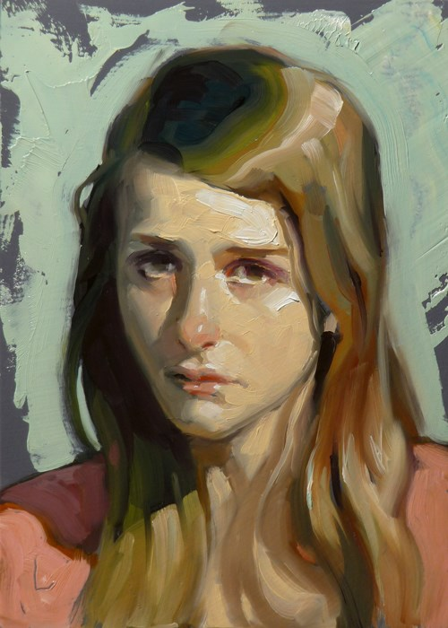 """Down"" original fine art by John Larriva"