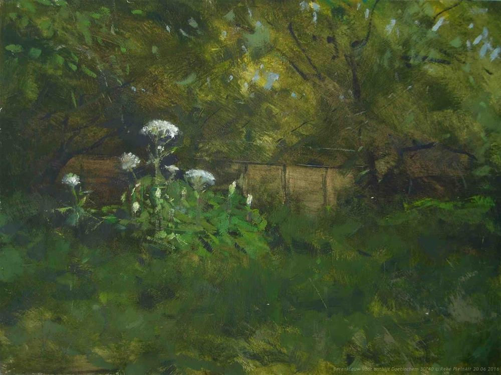 """Hogweed for breakfast. Doetinchem, The Netherlands"" original fine art by René PleinAir"