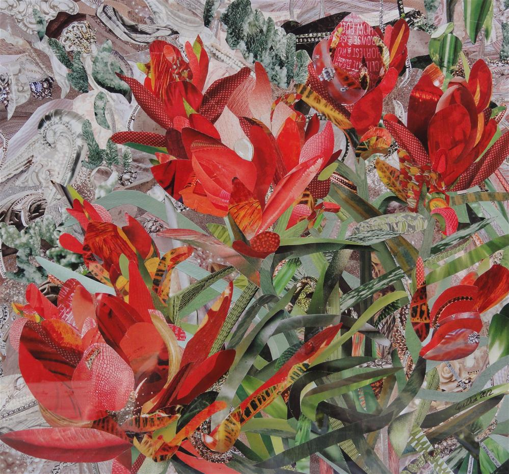 """Indian Paintbrush"" original fine art by Cynthia Frigon"