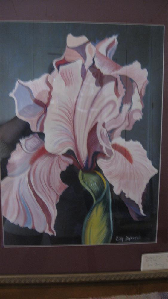 """""""Single Iris"""" original fine art by Lisa Darrow"""