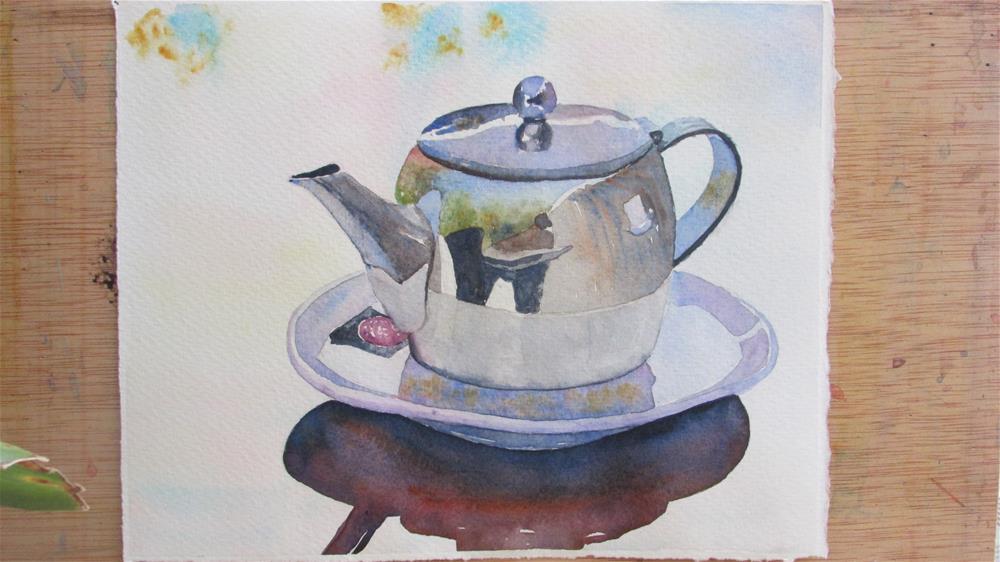 """""""Cup of tea?"""" original fine art by Yolanda Moreno"""