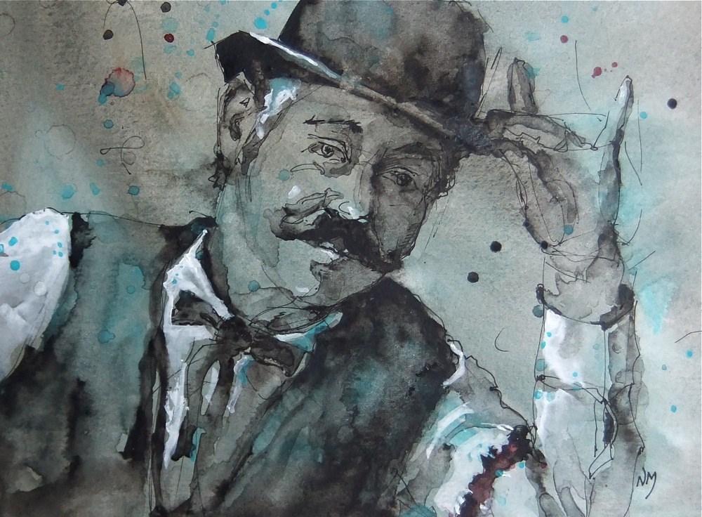 """JoJo"" original fine art by Nora MacPhail"