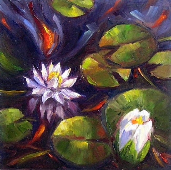 """Shadow Pond"" original fine art by Irina Beskina"
