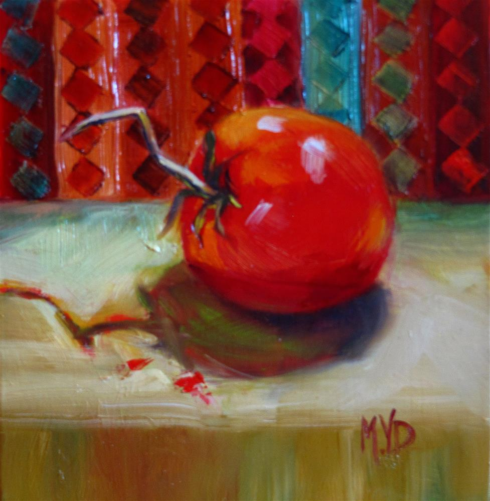 """Jazzed Tomato"" original fine art by Mary  Van Deman"